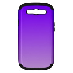 Violet To Wisteria Gradient Samsung Galaxy S Iii Hardshell Case (pc+silicone) by BestCustomGiftsForYou