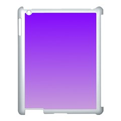 Violet To Wisteria Gradient Apple Ipad 3/4 Case (white)