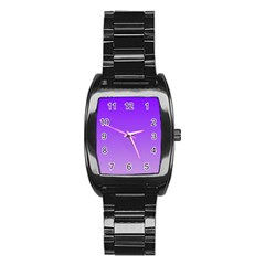 Violet To Wisteria Gradient Men s Stainless Steel Barrel Analog Watch by BestCustomGiftsForYou