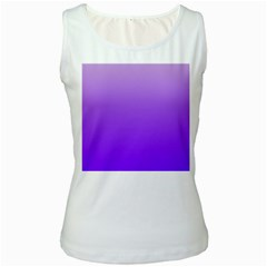 Wisteria To Violet Gradient Womens  Tank Top (white) by BestCustomGiftsForYou
