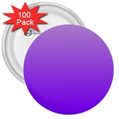 Wisteria To Violet Gradient 3  Button (100 Pack) by BestCustomGiftsForYou