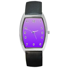 Wisteria To Violet Gradient Tonneau Leather Watch by BestCustomGiftsForYou
