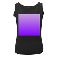 Wisteria To Violet Gradient Womens  Tank Top (Black) by BestCustomGiftsForYou