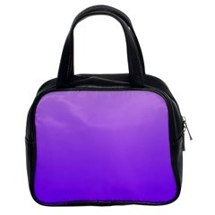 Wisteria To Violet Gradient Classic Handbag (two Sides) by BestCustomGiftsForYou