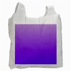 Wisteria To Violet Gradient Recycle Bag (one Side)