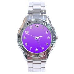 Wisteria To Violet Gradient Stainless Steel Watch (men s) by BestCustomGiftsForYou