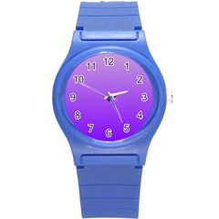 Wisteria To Violet Gradient Plastic Sport Watch (small) by BestCustomGiftsForYou