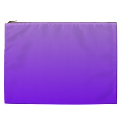 Wisteria To Violet Gradient Cosmetic Bag (xxl) by BestCustomGiftsForYou