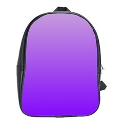 Wisteria To Violet Gradient School Bag (xl) by BestCustomGiftsForYou