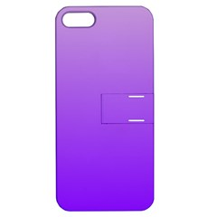 Wisteria To Violet Gradient Apple Iphone 5 Hardshell Case With Stand by BestCustomGiftsForYou