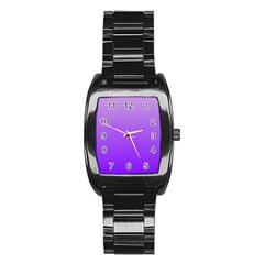 Wisteria To Violet Gradient Men s Stainless Steel Barrel Analog Watch by BestCustomGiftsForYou
