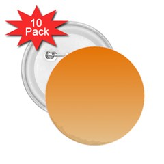 Orange To Peach Gradient 2 25  Button (10 Pack) by BestCustomGiftsForYou