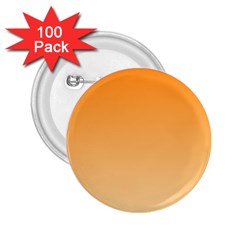 Orange To Peach Gradient 2 25  Button (100 Pack) by BestCustomGiftsForYou