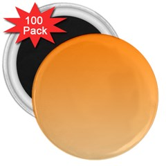 Orange To Peach Gradient 3  Button Magnet (100 Pack) by BestCustomGiftsForYou