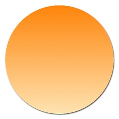 Orange To Peach Gradient Magnet 5  (round) by BestCustomGiftsForYou