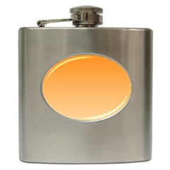 Orange To Peach Gradient Hip Flask by BestCustomGiftsForYou