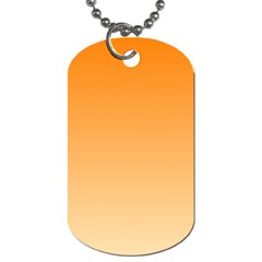 Orange To Peach Gradient Dog Tag (two Sided)  by BestCustomGiftsForYou