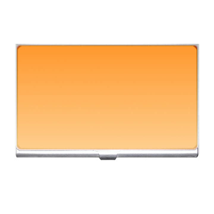 Orange To Peach Gradient Business Card Holder