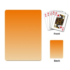 Orange To Peach Gradient Playing Cards Single Design by BestCustomGiftsForYou