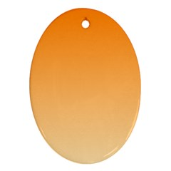 Orange To Peach Gradient Oval Ornament (two Sides) by BestCustomGiftsForYou