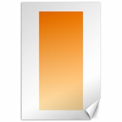 Orange To Peach Gradient Canvas 24  X 36  (unframed) by BestCustomGiftsForYou
