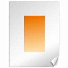 Orange To Peach Gradient Canvas 36  X 48  (unframed) by BestCustomGiftsForYou