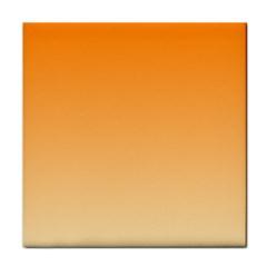 Orange To Peach Gradient Face Towel