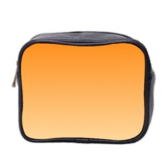 Orange To Peach Gradient Mini Travel Toiletry Bag (two Sides) by BestCustomGiftsForYou