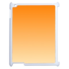 Orange To Peach Gradient Apple Ipad 2 Case (white) by BestCustomGiftsForYou