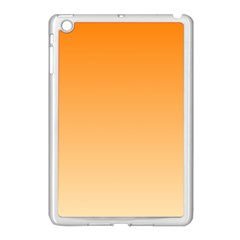 Orange To Peach Gradient Apple Ipad Mini Case (white) by BestCustomGiftsForYou