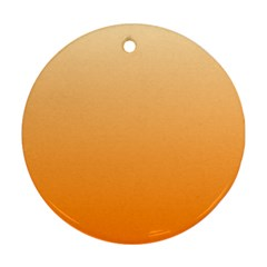 Peach To Orange Gradient Round Ornament by BestCustomGiftsForYou