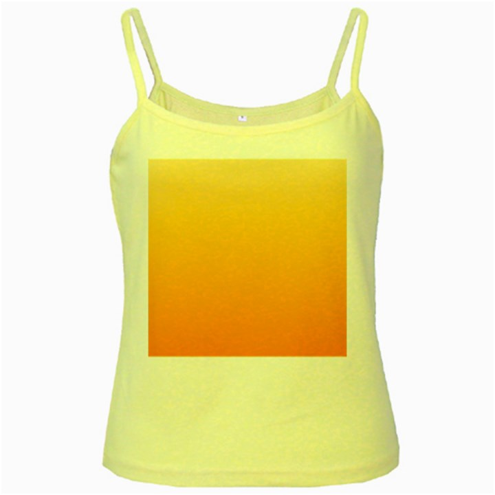 Peach To Orange Gradient Yellow Spaghetti Tank