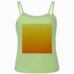 Peach To Orange Gradient Green Spaghetti Tank by BestCustomGiftsForYou