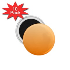 Peach To Orange Gradient 1 75  Button Magnet (10 Pack) by BestCustomGiftsForYou