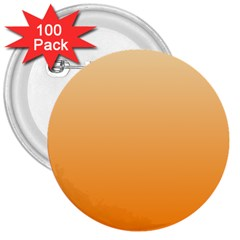 Peach To Orange Gradient 3  Button (100 Pack) by BestCustomGiftsForYou