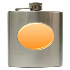 Peach To Orange Gradient Hip Flask by BestCustomGiftsForYou
