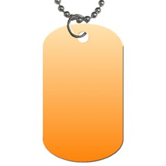 Peach To Orange Gradient Dog Tag (two Sided)  by BestCustomGiftsForYou