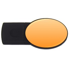 Peach To Orange Gradient 2gb Usb Flash Drive (oval) by BestCustomGiftsForYou
