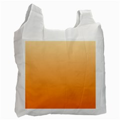 Peach To Orange Gradient Recycle Bag (two Sides) by BestCustomGiftsForYou