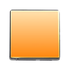 Peach To Orange Gradient Memory Card Reader With Storage (square) by BestCustomGiftsForYou