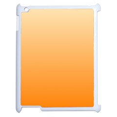 Peach To Orange Gradient Apple Ipad 2 Case (white) by BestCustomGiftsForYou