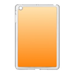 Peach To Orange Gradient Apple Ipad Mini Case (white) by BestCustomGiftsForYou