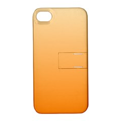 Peach To Orange Gradient Apple Iphone 4/4s Hardshell Case With Stand by BestCustomGiftsForYou