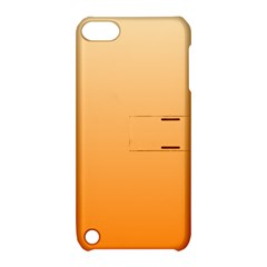Peach To Orange Gradient Apple Ipod Touch 5 Hardshell Case With Stand by BestCustomGiftsForYou