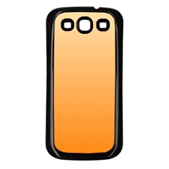 Peach To Orange Gradient Samsung Galaxy S3 Back Case (black) by BestCustomGiftsForYou