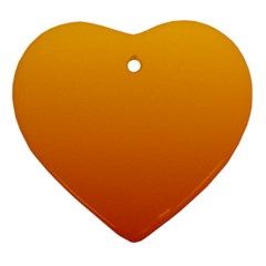 Amber To Mahogany Gradient Heart Ornament by BestCustomGiftsForYou