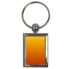 Amber To Mahogany Gradient Key Chain (rectangle) by BestCustomGiftsForYou