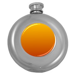 Amber To Mahogany Gradient Hip Flask (round) by BestCustomGiftsForYou