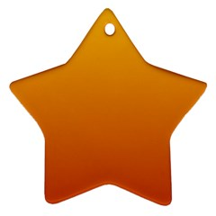Amber To Mahogany Gradient Star Ornament (two Sides) by BestCustomGiftsForYou