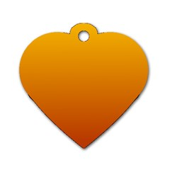 Amber To Mahogany Gradient Dog Tag Heart (one Sided)  by BestCustomGiftsForYou